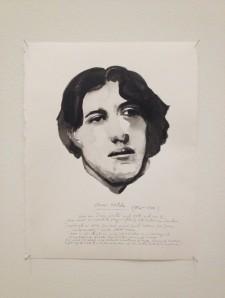 Oscar Wilde by Marlene Dumas